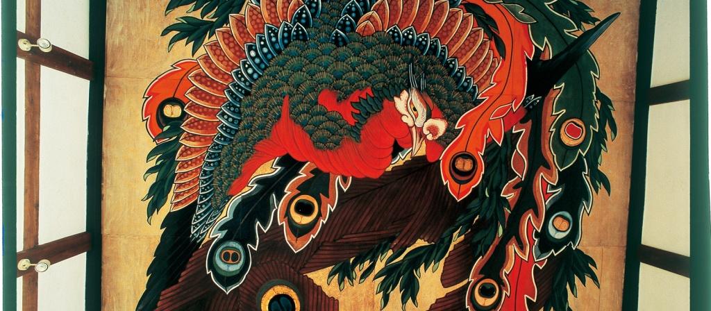 長野県小布施町の岩松院の天井画